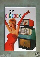 "Vintage Jukebox Ad No.5 Fridge Magnet 2 1/2"" x 3 1/2"" Cinebox Italy Scopitone"