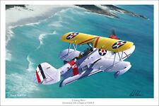 "Grumman J2F Duck  Flying Boat WWII Aviation Art Print - 16"" x 24"""