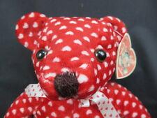 BIG NEW VALENTINE TEDDY BEAR RED WHITE POLKADOT HEART PRINT BOW PLUSH STUFFED