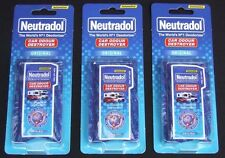 "NEW NEUTRADOL CAR ODOUR DESTROYER AIR FRESHENER ""ORIGINAL"" X 3"