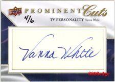 2009 UD PROMINENT CUTS PSA/DNA AUTO: VANNA WHITE #4/6 AUTOGRAPH