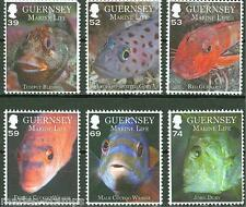 Guernsey 2013 Marine Life Set Of Six Mint Nh