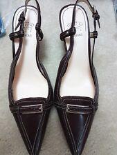 JOAN & DAVID Circa Comfort Slingbacks sandals- Dark Brown sz 8M