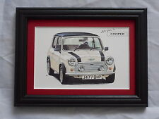 Mini Cooper Stunning Framed & Mounted Postcard **Offers**