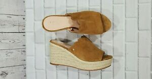 Kate Spade Toby Suede Wedge Espadrille Sandals Tan WOMENS SIZE 9 M