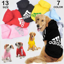 XS~9XL Winter Casual Adidog Pets Dog Clothes Warm Hoodie Coat Jacket Clothing