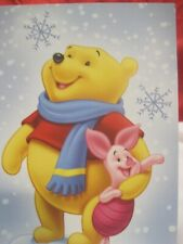 Winnie The Pooh & Piglet, Vintage Collectible Christmas Card