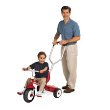 Radio Flyer Deluxe Steer and Stroll Kids Recreation Bike Tricycle, Red(Open Box)