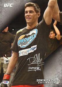 Dominick Cruz Signed UFC 2015 Topps Knockout 10x14 Card PSA/DNA COA #1/49 Auto'd