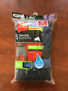 NEWHanes Boxers Shorts Underwear Men's Size Small 28-30 Comfort Soft 5 Pair Pack