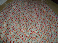 Laura Ashley 100% Cotton Hand-made Lined CURTAIN Vintage 1987 Fabric