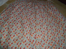Laura Ashley 100% COTONE HAND-made foderato tessuto per Tende Vintage 1987