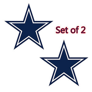 Dallas Cowboys Cornhole Board Decals NEW 12 inches Large Free Ship - Set of 2