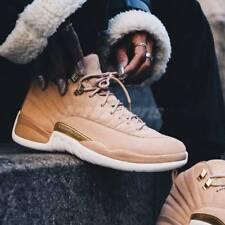 Nike Air Jordan 12 XII Retro Vachetta Tan White Gold AO6068-203 Women's 10 Shoes