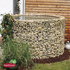 BELLISSA Hochteich Ø 130/110 H80cm Gabione Gartenteich Teich Wasserfass 95560