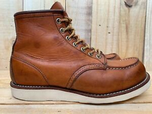Red Wing Heritage 875 Oro Legacy Moc Toe Leather Boots Sz USA 8 D   UK 7