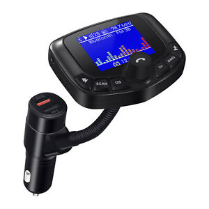 FM Transmitter Bluetooth Wireless Car Dual USB Charger Handsfree Kit Mp3 Player