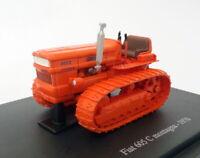 Hachette 1/43 Scale Model Tractor HT013 - 1970 Fiat 605 C Montagna - Orange