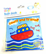 New Baby Bath Books Plastic Coated Kids Toddler Educational Toys Bath Time Fun