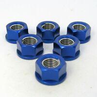 Suzuki GSR750 2011 - 2016 6 Blue Aluminium Sprocket Nuts