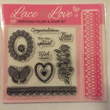 Card making Stamp Set - Lace & love