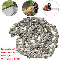 Chainsaw Saw Chain 16'' 3/8 LP 050 55DL For 009 011 017 018 020T MS170  NEW