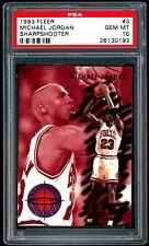 Michael Jordan 1993-94 Fleer SharpShooter Insert #3 PSA 10 Gem Mint
