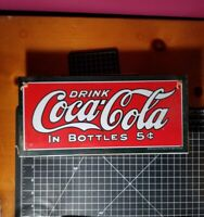 Drink Coca Cola In Bottles Sign Brand New Sealed In Plastic New Old Stock 2001!!