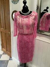 ZEILA Gorgeous Pink Lace Special Occasion Dress Size 10 New