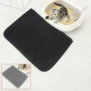 Foldable Double-Layer Cat Litter Mat Waterproof Pad Pet Rug Foam  Trapper