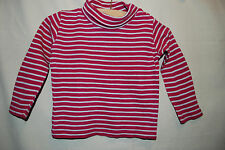 impidimpi | Langarmshirt mit Rollkragen | Rolli | geringelt Rosa-Weiß | 86 92