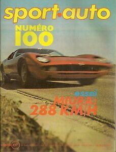 SPORT AUTO 100 1970 LAMBORGHINI MIURA 12H SEBRING 1000KM BRANDS HATCH LOTUS SEVE