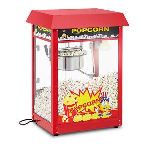 Popcornmaschine Popcornmaker Profi Popcornautomat Retro Design 1495Watt 5Kg Kino