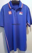 UNIQLO x Novak Djokovic 2016 Rio Olympics Brazil S Polo Shirt Serbian Flag *NEW*
