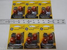 (12) GE 3157NA Miniature Lamp Bulb 27w 8w Plastic Wedge 12 volt S8 12v Free Ship