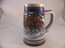 Anheuser Busch 1989 Collector's Series Budweiser Clydesdale Beer Stein Ceramarte
