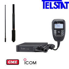 Icom IC410 Pro UHF CB (Replaces IC400Pro) + GME AE4703B (Black) 6.6dBi Antenna