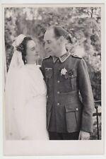 (F1038+) Orig. Foto Wehrmacht-Soldat, Hochzeit, 1940er
