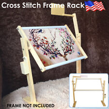 Adjustable Embroidery Frame Stand Hoop Cross Stitch Sewing Needlework Rack Diy