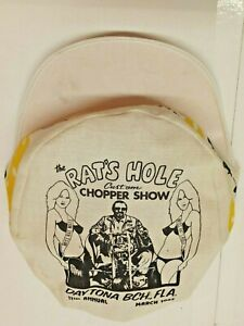 Vtg Cap 1983 DAYTONA BEACH FLORIDA RAT`S HOLE CUSTOM CHOPPER SHOW HAT BIG DADDY