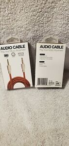 2xGEMS Audio Cable Smartphone Tablet Portable Speakers Music 3.5mm 3ft. Braid