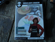TURNER ACRYL GOUACHE TOLE AND DECORATIVE PAINTING WITH TERESA BROWN  ART DVD NEW