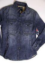 New True Religion Men Blue Denim Jeans  Flannel Thick Shirt XXLarge 2XL XXL