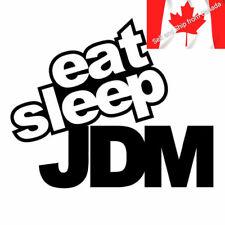 15*12CM EAT SLEEP JDM Funny Humor Car Sticker Decal Motorcycle Black