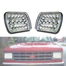 Pair 7X6/5X7 Clear LED Sealed Beam Headlight GMC S15 Ford F250 F150 F350 Jeep