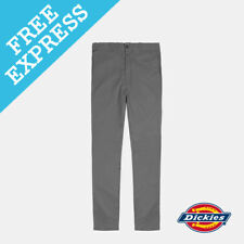 Dickies Men's SKINNY Straight Fit Work Pant Mens Trousers Black 32 Charcoal WP801CHA