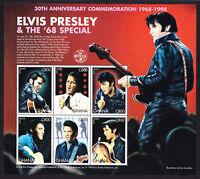 Stamp Sheet of 6 stamps Ghana Elvis Presley Rock & Roll Star The '68 Special