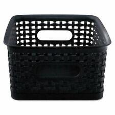 Advantus Weave Bins 7 12 X 10 X 8 14 Plastic Black 3 Bins Avt40326