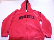 Youth Nebraska Cornhuskers L (14/16) Jacket Hoodie Hooded Sweatshirt (Red) Majes