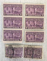 United States 1922 Special Delivery Stamps Postman And Motorcycle Mostly Mint